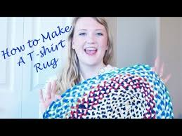 How To Make A Wool Rug With A Hook How To Make A Braided T Shirt Rug Youtube