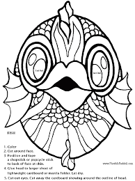 gallery u003e fish mask template printable coloring