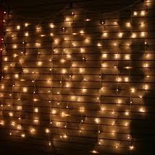 curtain lights white bulbs green wire