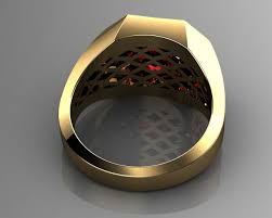 pave mens ring diamond and ruby 3d printable pave mens ring diamond and ruby 3d printable model