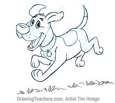 cartoon dog how to draw a dog step by step