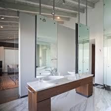 glamorous modern bathroom wall cabinet design with white vanities