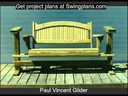 build a porch swing or glider with our designs swingplans com