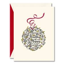 calligraphic ornament christmas cards