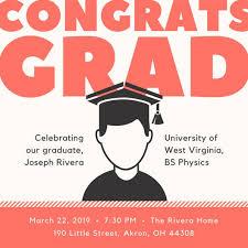 graduation cap invitations graduation invitation templates canva