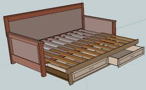 Free Woodworking Plans Bed With Storage by Pull Out Daybed Plans Home Diy Ideas Pinterest Daybed Diy