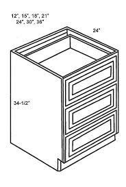 Drawer Base Cabinets Kitchen Db12 3 Base Cabinets Drawer Base Cabinet Classic White Shaker