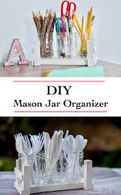 Desk Organizer Diy by Diy Mason Jar Desk Organizer Using Scrap Wood Scrap Wood