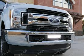 f250 led light bar 2017 up ford f 250 f 350 lower bumper grill mount led light bar