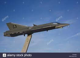 a beautiful display of saab 35 draken a swedish air force jet