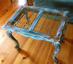 sold shabby chic end table glass top side table sofa table