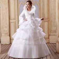winter wedding dresses 11 winter wedding dress fur collar fashion sleeve