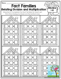multiplication and division fact families 3rd grade fact