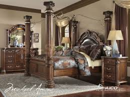 Mini Couch For Bedroom by Decorating Brown Wooden Bedroom Set By Michael Amini Furniture