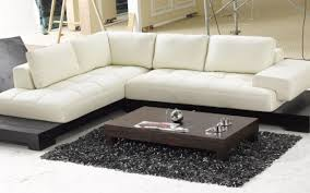Modern White Bonded Leather Sectional Sofa Sofa 3 Piece Modern Reversible Tufted Bonded Leather Sectional