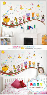 sk9038 cartoon animal concert diy home decorative wall sticker