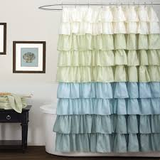 bathroom awesome white ruffle shower curtain for excellent