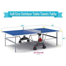sporting goods ping pong table amazon com kettler top star xl weatherproof table tennis table