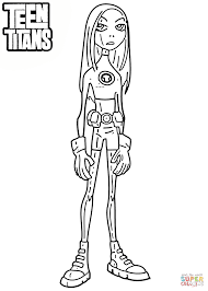 teen titans terra coloring page free printable coloring pages