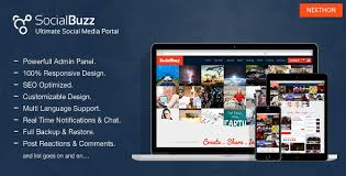 socialbuzz ultimate social media portal by nexthon codecanyon