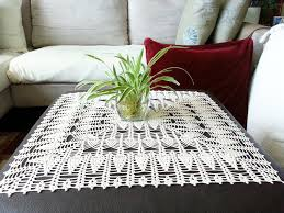 natural or ecru crochet tablecloth square lace table centerpiece