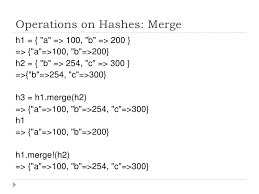 ruby hash map ruby language array hash and iterators