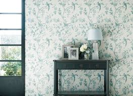 laura ashley summer palace off white duck egg la17012 tapet