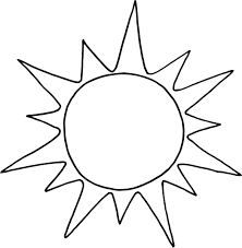 coloring page of sun funycoloring