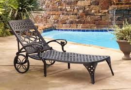 Outdoor Chaise Lounge Chair Styles Biscayne Outdoor Chaise Lounge Chair With Wheels