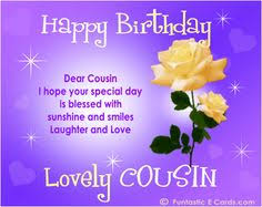 saying happy bday cousin free online family birthday cards e