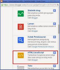 blogger atau blogspot cara menambahkan dan memasang widget pada blog cara internet
