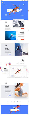 Sportify Landing Page Website design • web design