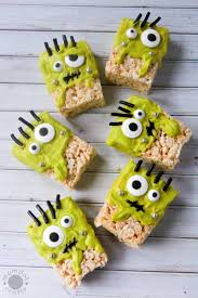 frankenstein rice krispie treats recipe momdot