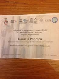 unesco si e diploma de participare acordata de catre primarul localitatii