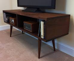 Tv Tables Wood Modern Mid Century Modern Family Room With Mid Century Tv Stand