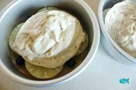 blueberry pineapple upside down cake with honey gouda cream recipe