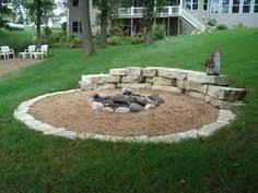 Gravel Fire Pit Area - patio for slope yard firepit vestavia hills hardscape richter