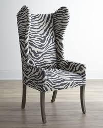 Outdoor Wingback Chair Kayla Zebra Print Wingback Chair