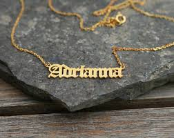 customized name necklace gold gold name necklace etsy