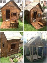 How To Build A Shed Out Of Wooden Pallets by 25 Ideas To Recycle Pallets In Kids Pallet Playhouses Huts Cabins