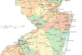 map of nj regional map of central new jersey
