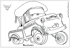 mater coloring pages disney cars magnificent monster truck