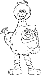 halloween coloring pages halloween big bird from sesame street