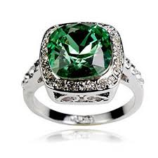 swarovski rings green images Luxury square cubic zirconia rings swarovski crystal ring cubic jpg