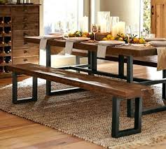 Pottery Barn Dining Room Table Dining Table Griffin Reclaimed Fixed Table Bench 3 Piece Dining