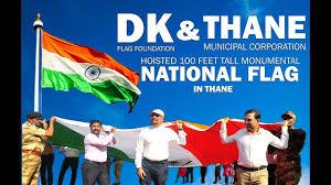 100 Pics Flags Dk Flag Foundation U0026 Thane Municipal Corporation Hoisted 100 Feet