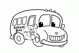 bus coloring page for kids transportation coloring pages