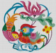 free cross stitch patterns chinese traditional wedding mandarin duck