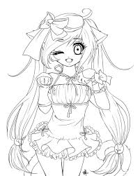 anime cat coloring pages coloring pages kids collection