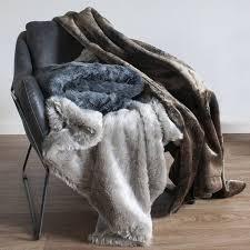 Faux Fur Throw Grey Grey Wolf Faux Fur Throw 1300 X 1700mm Brandalley
